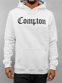 Mister Tee Hoody Compton Hooded Bandana weiß