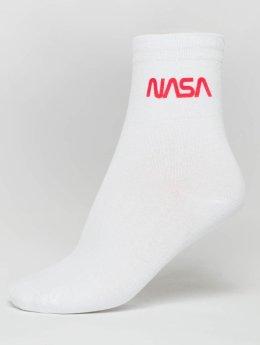 Mister Tee Socken NASA Worm Logo weiß