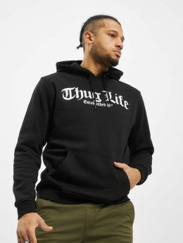 Mister Tee Sweat capuche Thug Life Old English noir