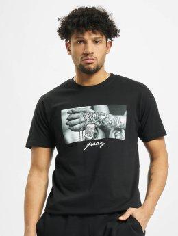 Mister Tee T-paidat Pray 2.0 musta
