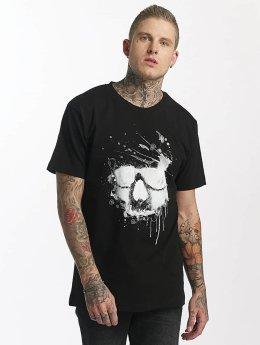 Mister Tee T-paidat Waterpaint Skull musta
