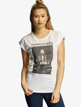 Mister Tee T-paidat Jimmy Hendrix valkoinen