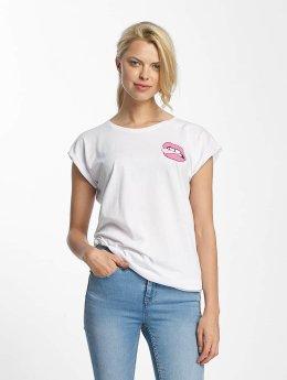 Mister Tee T-Shirt Lips blanc