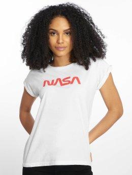 Mister Tee T-Shirt NASA Worm blanc