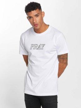 Mister Tee T-Shirt Pray Handy blanc