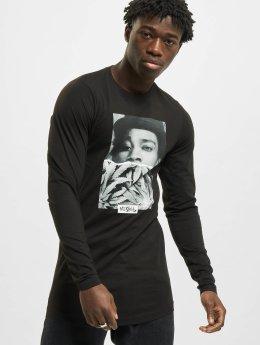 Mister Tee T-Shirt manches longues Wiz Khalifa Half Face noir