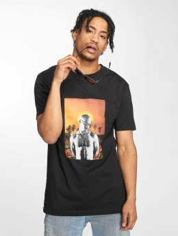 Mister Tee T-Shirt Tupac Sunset College noir