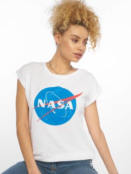 Mister Tee Frauen T-Shirt NASA Insignia in weiß