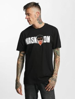 Mister Tee t-shirt Mask On Mask Off zwart