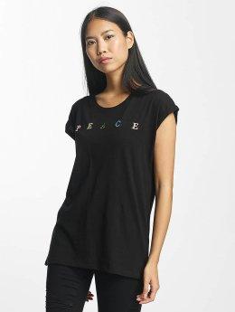 Mister Tee t-shirt PEACE zwart