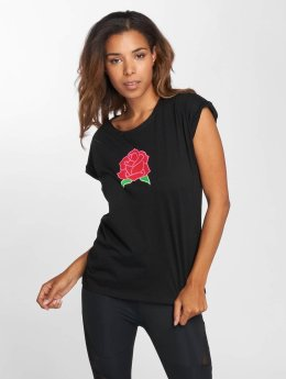 Mister Tee t-shirt Bright Rose zwart