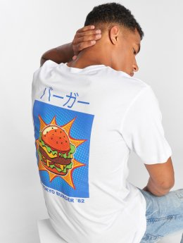 Mister Tee T-shirts Tokyo Burger hvid