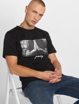 Mister Tee T-skjorter Pray svart