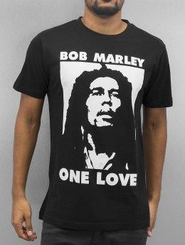 Mister Tee T-skjorter Bob One Love svart