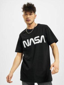 Mister Tee T-skjorter NASA Worm svart