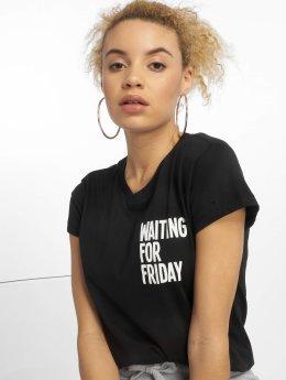 Mister Tee T-skjorter Waiting For Friday svart