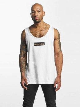 Mister Tee Tank Tops Fake Love bialy