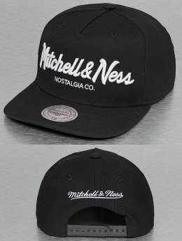 Mitchell & Ness Pinscript Snapback Cap Black/White