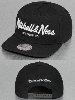 Mitchell & Ness Snapback Cap Pinscript schwarz