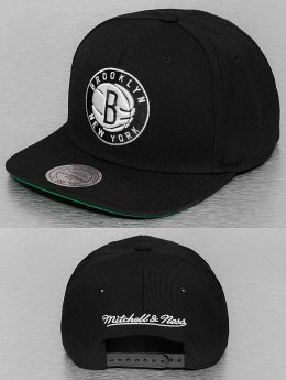 Mitchell & Ness Snapback Cap Wool Solid Brooklyn Nets schwarz