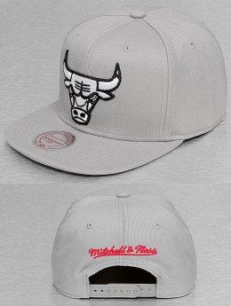 Mitchell & Ness Snapback Caps Black & White Logo Series harmaa