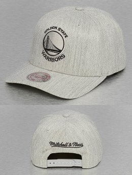 Mitchell & Ness 110 Golden State Warriors Flexfit Snapback Cap Grey Heather
