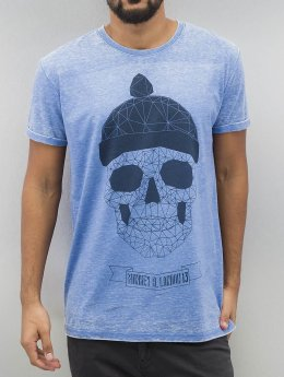 Monkey Business T-Shirt Geometric Skull blue