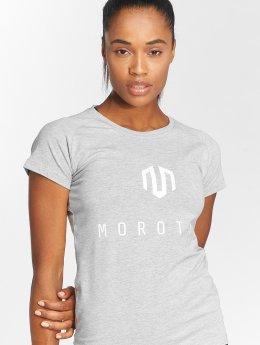 MOROTAI Urheilu T-paidat Premium Basic Brand harmaa
