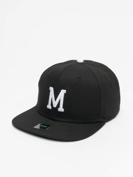 MSTRDS snapback cap M Letter zwart