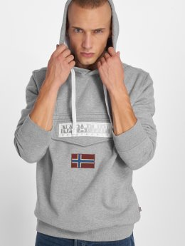 Napapijri Hoodies Burgee 2 Fleece grå
