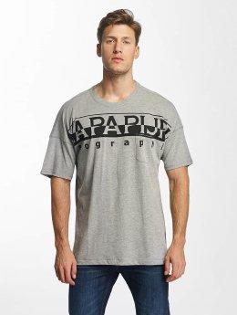 Napapijri T-shirt Saumur grigio