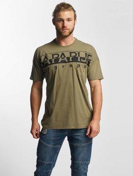 Napapijri T-Shirty Saumur zielony