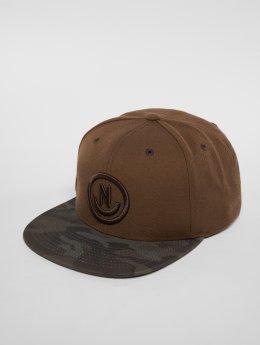 NEFF Snapback Caps Daily Smile Pattern brun