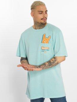 NEFF T-shirt Peak Pocket blå