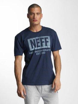 NEFF T-Shirt New World Push blau