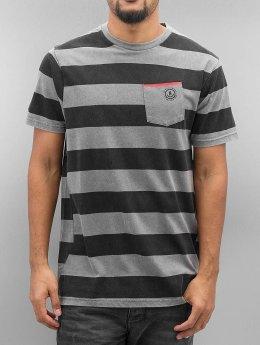 NEFF T-Shirt Christoph Washed Stripe grau