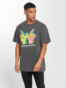 NEFF T-Shirt Whatever TV Pigment grau