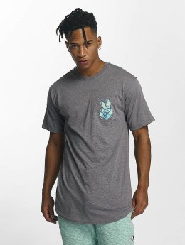 NEFF Peece Scallop T-Shirt Graphite Heather