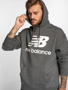 New Balance Bluzy z kapturem MT83585 szary