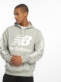 New Balance Bluzy z kapturem MT83586 szary