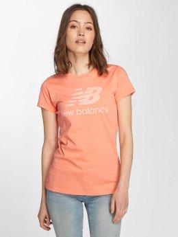 New Balance t-shirt WT81539 Heathered oranje