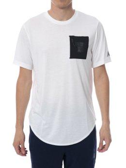 New Balance T-Shirty Sport Pocket bialy
