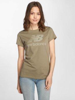 New Balance T-Shirty WT81539 Heathered zielony