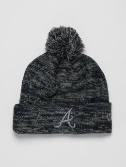 New Era Beanie MLB Cuff Atlanta Braves šedá