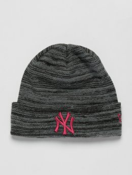 New Era Beanie  MLB Cuff New York Yankees grau
