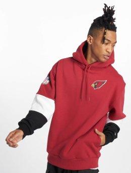 New Era Bluzy z kapturem Nfl Colour Block Arizona Cardinals czerwony