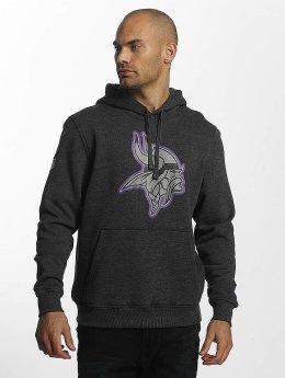 New Era Bluzy z kapturem Minnesota Vikings szary