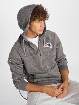 New Era Bluzy z kapturem NFL New England Patriots szary
