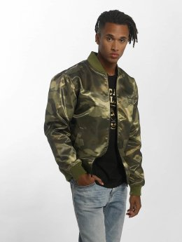 New Era Bomberjacke BNG Chicago Bulls Sateen olive