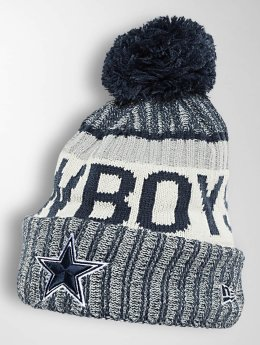 New Era Bonnet hiver On Fiel NFL Sport Dallas Cowboys bleu